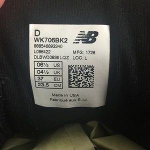 New Balance Shoes - New Balance Black Walking 706v2 Postal Sneakers
